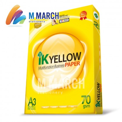 IK Yellow Multifunction Business Paper A3 70gsm 450 Sheets
