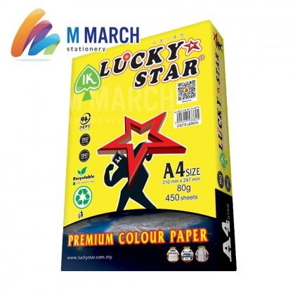 Ik Lucky Star Colour Paper A4 80 gsm 450 Sheets (Lemon)