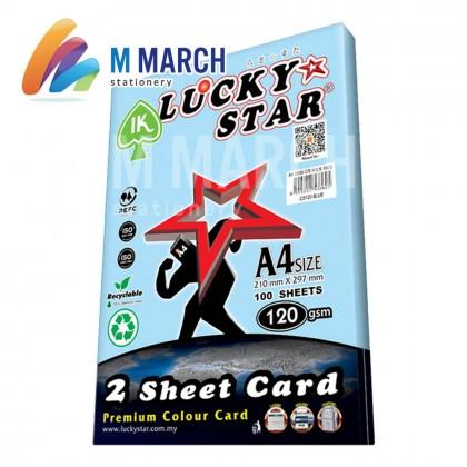 Ik Lucky Star A4 2 Sheet Card 120 gsm 100 Sheets (Blue)