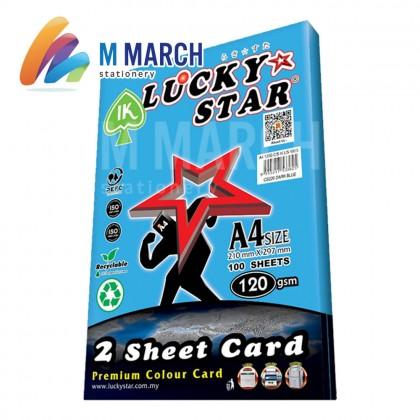 Ik Lucky Star A4 2 Sheet Card 120 gsm 100 Sheets (Dark Blue)