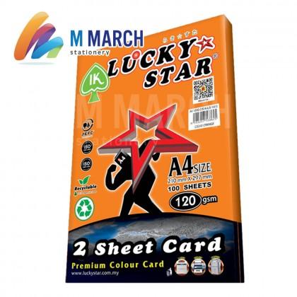 Ik Lucky Star A4 2 Sheet Card 120 gsm 100 Sheets (Orange)