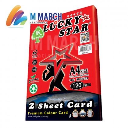 Ik Lucky Star A4 2 Sheet Card 120 gsm 100 Sheets (Red)
