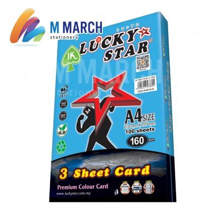 Ik Lucky Star A4 3 Sheet Card 160 gsm 100 Sheets (Dark Blue)